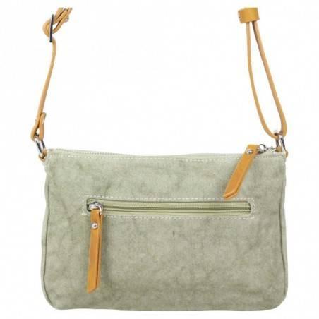Petit sac bandoulière FUCHSIA Milli bande toile délavée vert FUCHSIA - 2