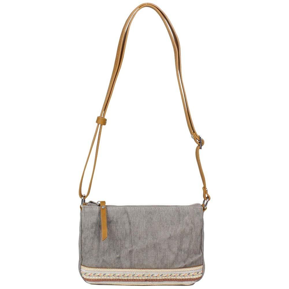 Petit sac bandoulière bande toile délavée FUCHSIA Milli gris FUCHSIA - 1