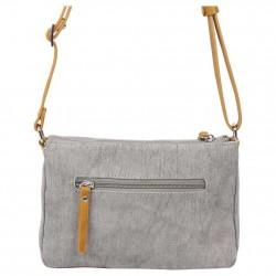 Petit sac bandoulière bande toile délavée FUCHSIA Milli gris FUCHSIA - 3