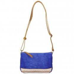 Petit sac bandoulière FUCHSIA Milli bande toile délavée bleu FUCHSIA - 1