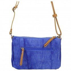 Petit sac bandoulière FUCHSIA Milli bande toile délavée bleu FUCHSIA - 2