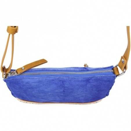 Petit sac bandoulière FUCHSIA Milli bande toile délavée bleu FUCHSIA - 3