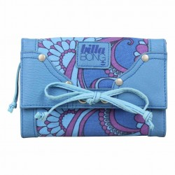 Grand porte monnaie cartes Billabong toile motif bleu BILLABONG - 1