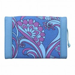 Grand porte monnaie cartes Billabong toile motif bleu BILLABONG - 3