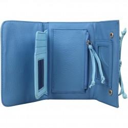 Grand porte monnaie cartes Billabong toile motif bleu BILLABONG - 2