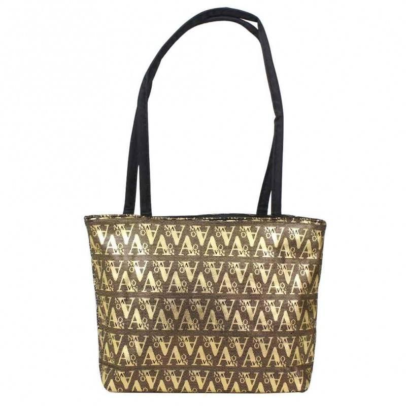 Petit sac noir motif design écriture graphologique or A DÉCOUVRIR ! - 1