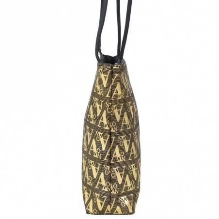 Petit sac noir motif design écriture graphologique or A DÉCOUVRIR ! - 3