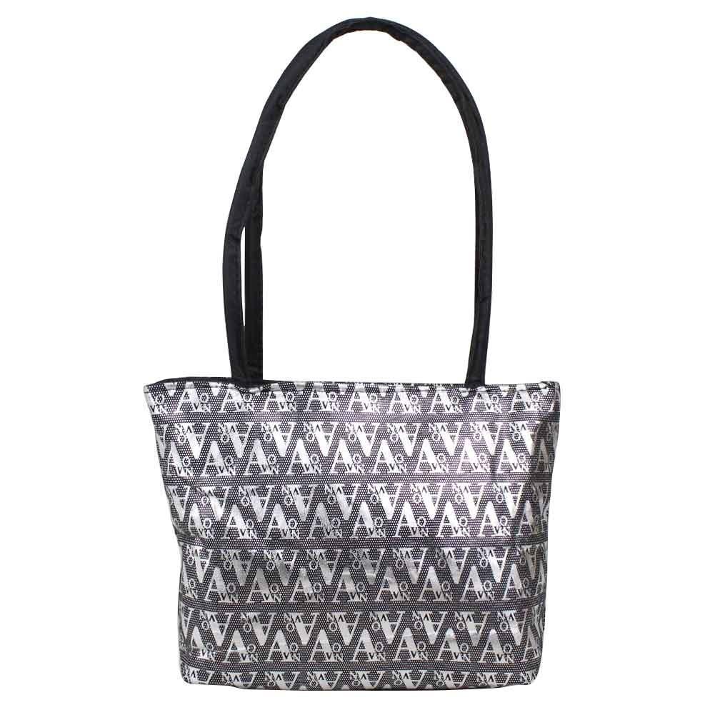Petit sac noir motif design écriture graphologique argent A DÉCOUVRIR ! - 1