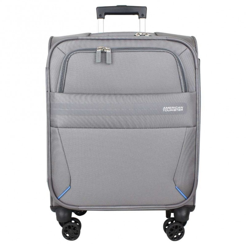 Valise trolley cabine 4 roues toile American Tourister Summer Voyager grise