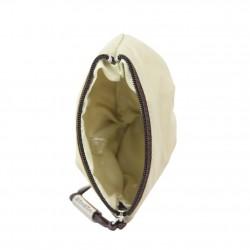 Porte monnaie bourse Texier nylon souple beige TEXIER - 3
