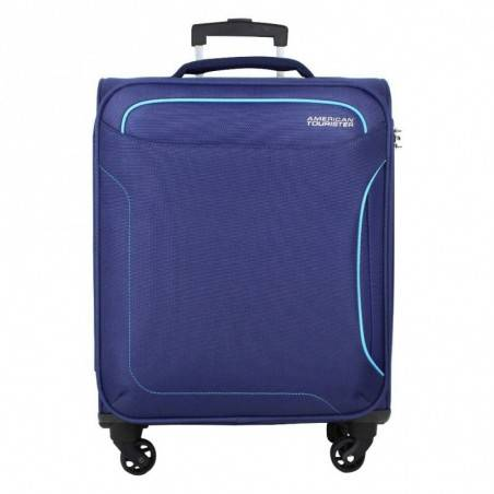 Valise cabine 4 roues toile American Tourister Holiday bleu AMERICAN TOURISTER - 1