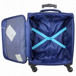 Valise cabine 4 roues toile American Tourister Holiday bleu AMERICAN TOURISTER - 3