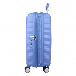 Valise cabine rigide 4 roues American Tourister Soundbox bleu AMERICAN TOURISTER - 2