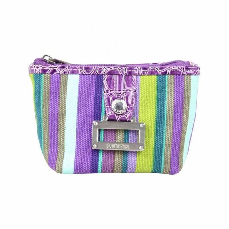 Petit porte monnaie bourse motif raie FUCHSIA violet FUCHSIA - 1