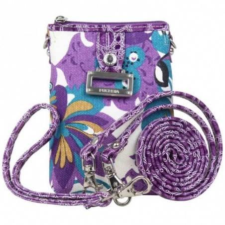 Mini sac bandoulière motif fleur FUCHSIA XS violet FUCHSIA - 1