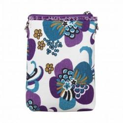 Petit porte monnaie femme fleur toile Fuchsia F9536-1 FUCHSIA - 2