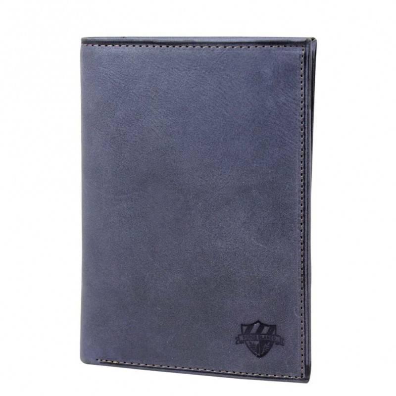 Grand portefeuille en cuir brut Serge Blanco SCU bleu SERGE BLANCO - 1