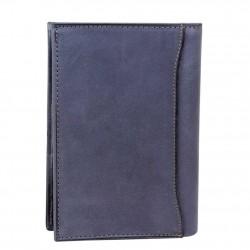 Grand portefeuille en cuir brut Serge Blanco SCU bleu SERGE BLANCO - 5