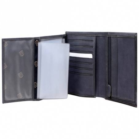 Grand portefeuille en cuir brut Serge Blanco SCU bleu SERGE BLANCO - 4