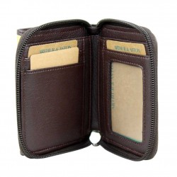 Porte monnaie zip toile rayure Arthur et Aston jaune ARTHUR & ASTON - 2
