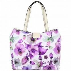 Sac cabas Éternel blanc fleurs violettes Eternel - 4