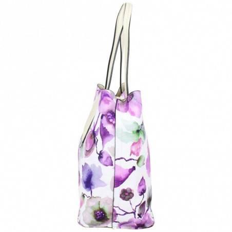 Sac cabas Éternel blanc fleurs violettes Eternel - 3