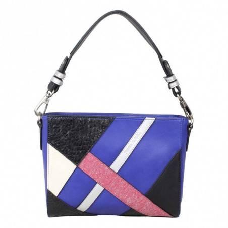 Sac Patrick Blanc motif asymetrique bleu et rose PATRICK BLANC - 1