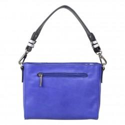 Sac Patrick Blanc motif asymetrique bleu et rose PATRICK BLANC - 3