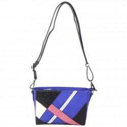 Sac Patrick Blanc motif asymetrique bleu et rose PATRICK BLANC - 2