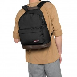 Sac à dos Eastpak EK811 noir fond cuir Wyoming 008 black  EASTPAK - 3