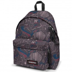 Sac à dos Eastpak EK620 gris motif bleu West Blue EASTPAK - 5