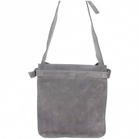 Sac épaule Longchamp cuir effet vieilli gris LONGCHAMP - 2