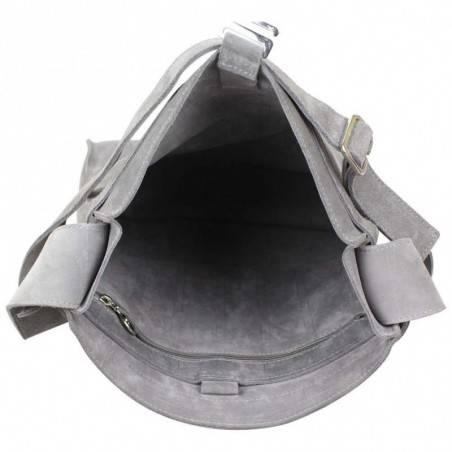 Sac épaule Longchamp cuir effet vieilli gris LONGCHAMP - 4