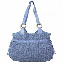 Sac bourse Morgan M toile motif imprimé bleu MORGAN - 4