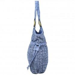 Sac bourse Morgan M toile motif imprimé bleu MORGAN - 2