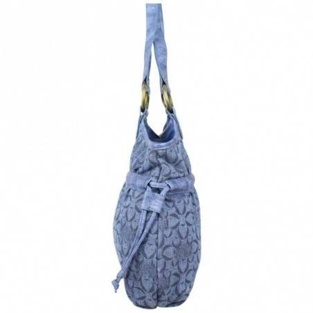 Sac bourse Morgan S toile motif imprimé bleu MORGAN - 2
