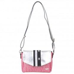 Petit sac épaule Patrick Blanc toile rose et argent PATRICK BLANC - 2