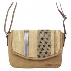 Petit sac épaule + bandoulière Patrick Blanc toile rose et argent PATRICK BLANC - 4