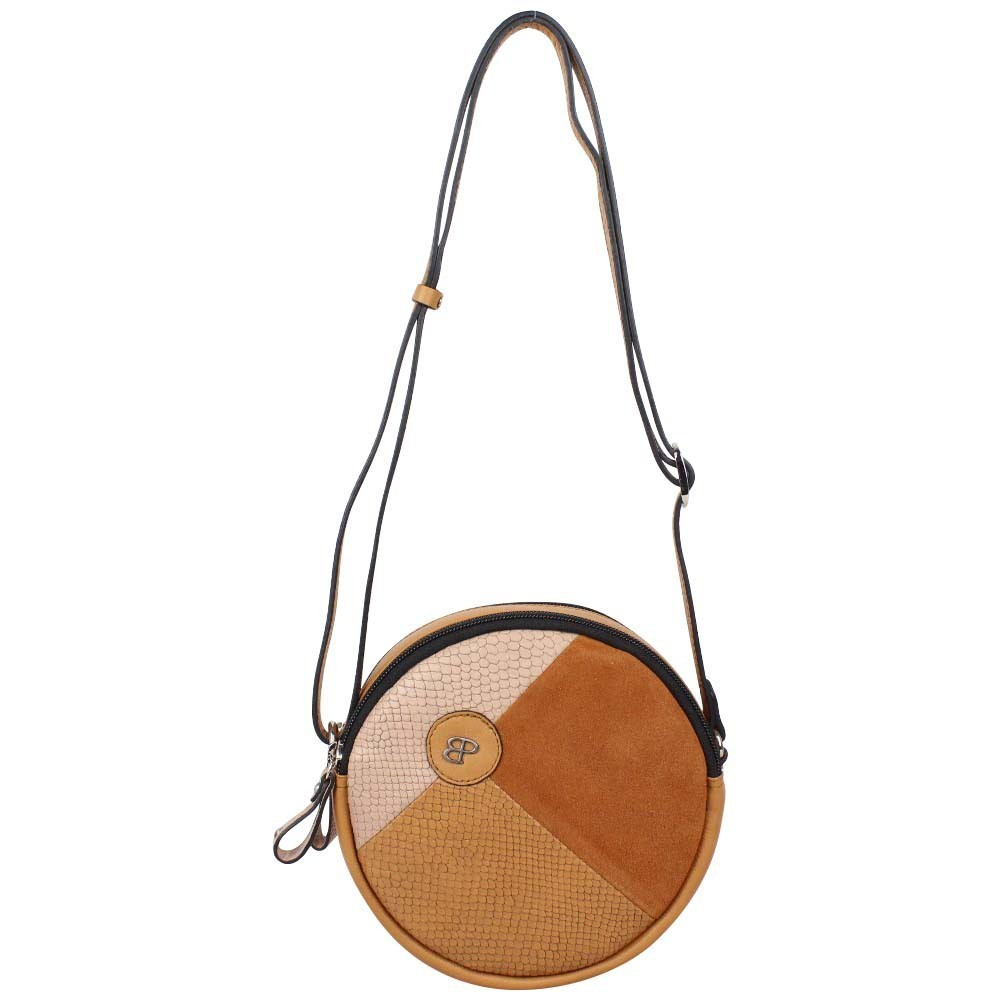 Petit sac rond cuir Patrick Blanc camel effet lézard PATRICK BLANC - 1