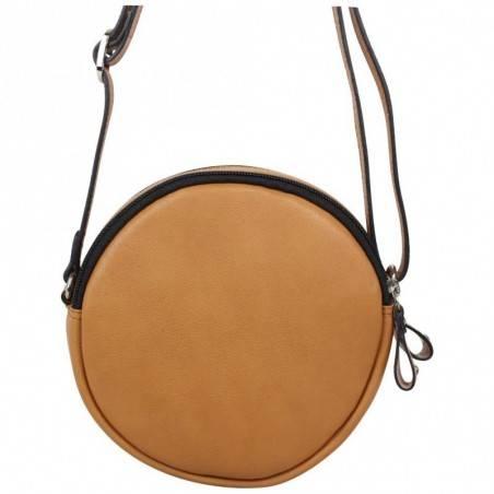 Petit sac rond cuir Patrick Blanc camel effet lézard PATRICK BLANC - 2