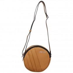 Petit sac rond bandoulière cuir Patrick Blanc marron camel PATRICK BLANC - 1