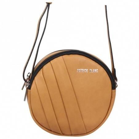 Petit sac rond bandoulière cuir Patrick Blanc marron camel PATRICK BLANC - 2