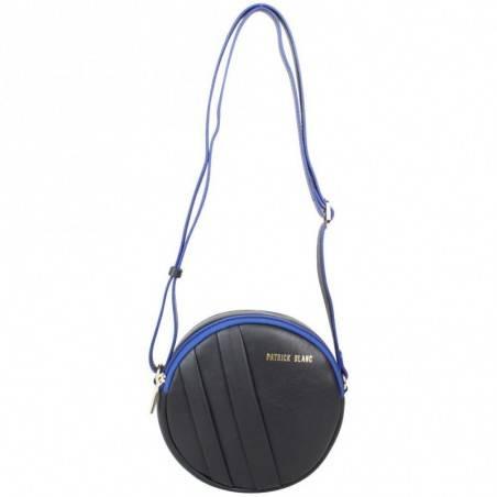 Petit sac rond bandoulière cuir Patrick Blanc noir PATRICK BLANC - 1