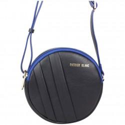 Petit sac rond bandoulière cuir Patrick Blanc noir PATRICK BLANC - 4