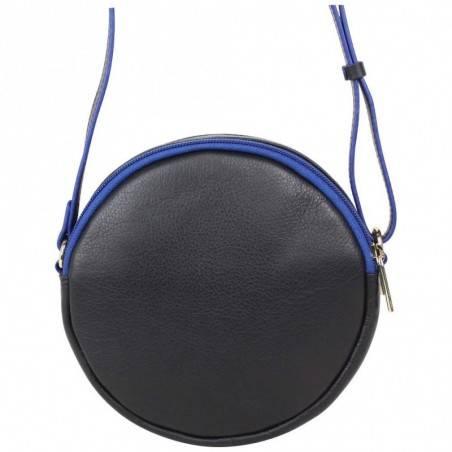 Petit sac rond bandoulière cuir Patrick Blanc noir PATRICK BLANC - 3