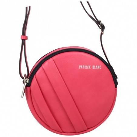 Petit sac rond bandoulière cuir Patrick Blanc rose fuchsia PATRICK BLANC - 3