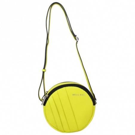 Petit sac rond bandoulière cuir Patrick Blanc jaune PATRICK BLANC - 1