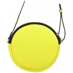 Petit sac rond bandoulière cuir Patrick Blanc jaune PATRICK BLANC - 3