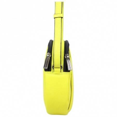 Petit sac rond bandoulière cuir Patrick Blanc jaune PATRICK BLANC - 2