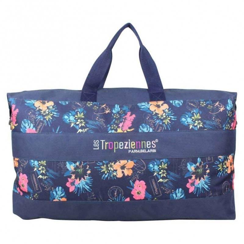 Sac de voyage Les Tropéziennes Valras bleu fleur